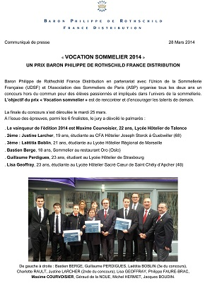 CP resultats vocation sommelier 2014 cover
